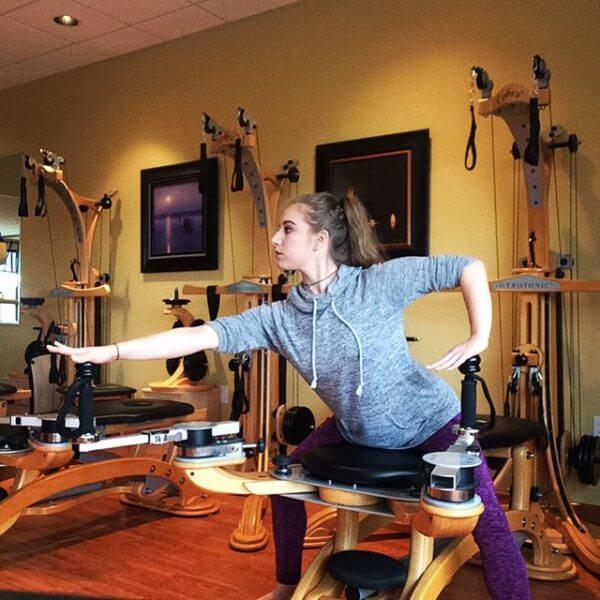 Woman on Gyrotonic® table.